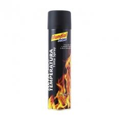 Tinta Spray Preto Fosco Alta Temperatura 400ml Mundial